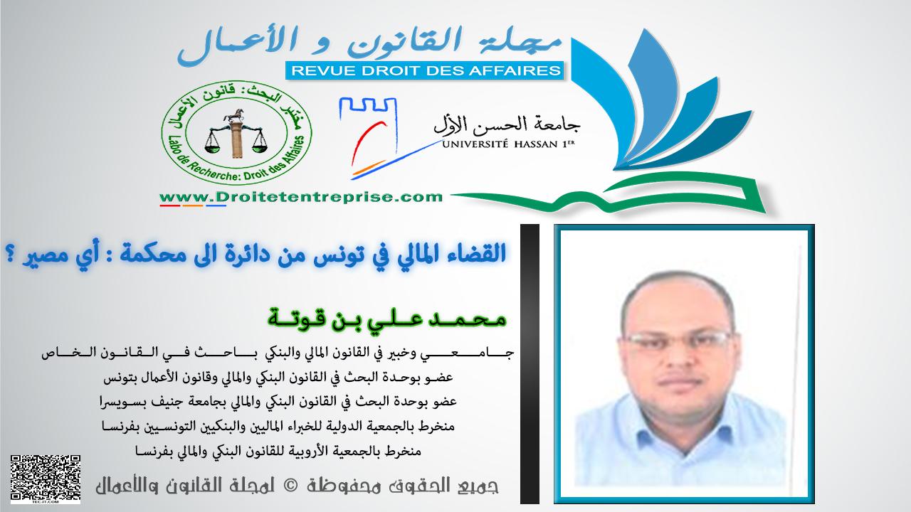 القضاء المالي في تونس من دائرة الى محكمة أي مصير